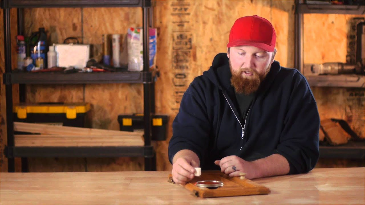 How to Repair a Scratch on a Stained Wood Kitchen Cabinet ...