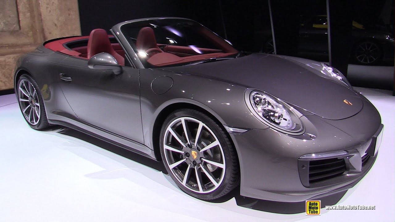 2017 porsche 911 carrera 4 convertible exterior and interior walkaround 2015 tokyo motor show youtube