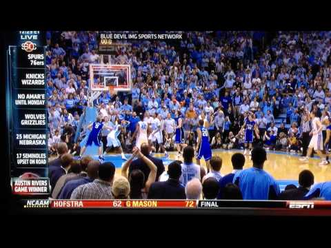 Radio calls of both Duke AND North Carolina of Austin Rivers buzzer-beater. 2-9-12