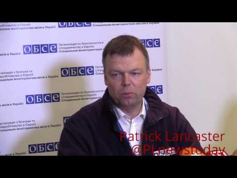 Ukraine & DPR ceasefire/Minsk violations press. conference by OSCE's A. Hug