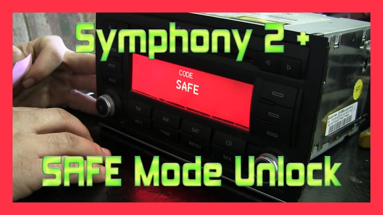 audi a4 s4 b7 symphony 2 plus safe mode unlock youtube  audi b7 nar symphony wiring diagram #34