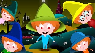 Five Little Witches | Five Little Monkeys | Nursery Rhymes Song For Toddlers