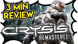 3 MIN REVIEW - Crysis Remastered (Video Game Video Review)