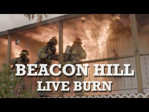 Multi Unit House Fire - Hazmat, Swat, Firefighter Academy - Beacon Hill Live Burn Training Trailer