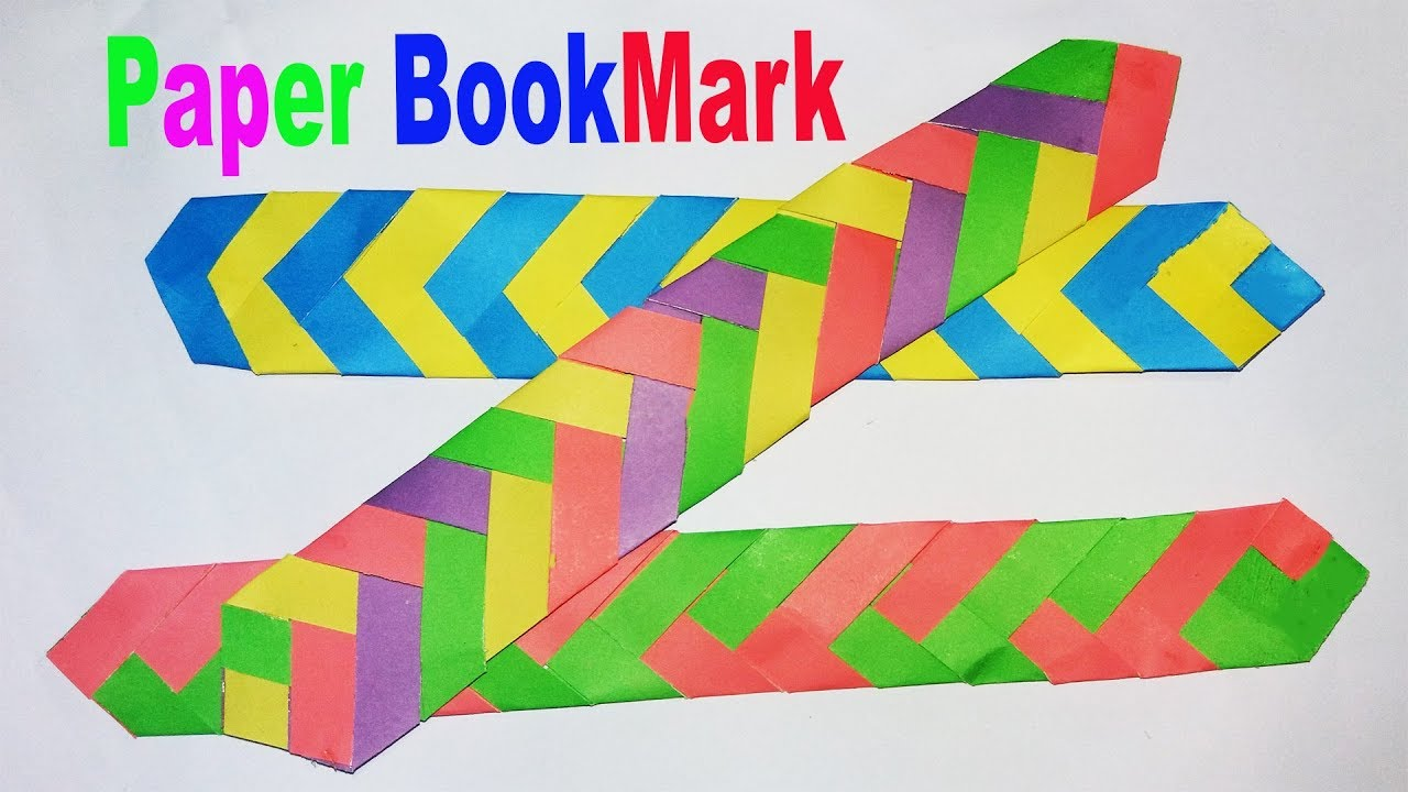 How to make simple easy paper bookmark diy easy How to make a simple bookmark