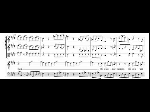 Every valley shall be exalted (Messiah - Händel) Score Animation
