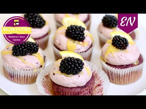 Blackberry And Lemon Cupcakes || William's Kitchen