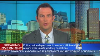Mass. Town's Entire Police Force Quits, Citing Unsafe Conditions