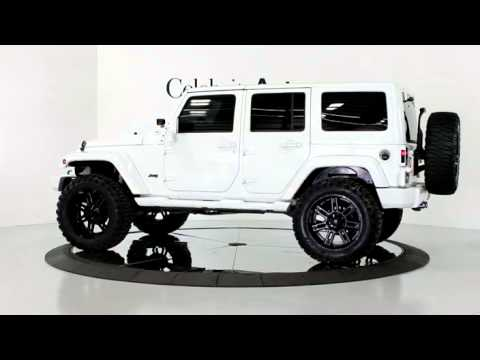 White Jeep Wrangler With Black Rims >> 2013 Jeep Wrangler Unlimited Sahara Hardtop White Blk 4 Lift 22 S