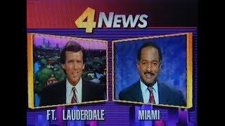 WTVJ / MIAMI - 1991 - Steve Abrams / Ed O'Dell - Ch. 4 News At 5:30 PM