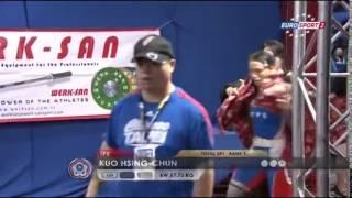 kuo hsing chun 1j 133 kg cat 58 world weightlifting championship 2013