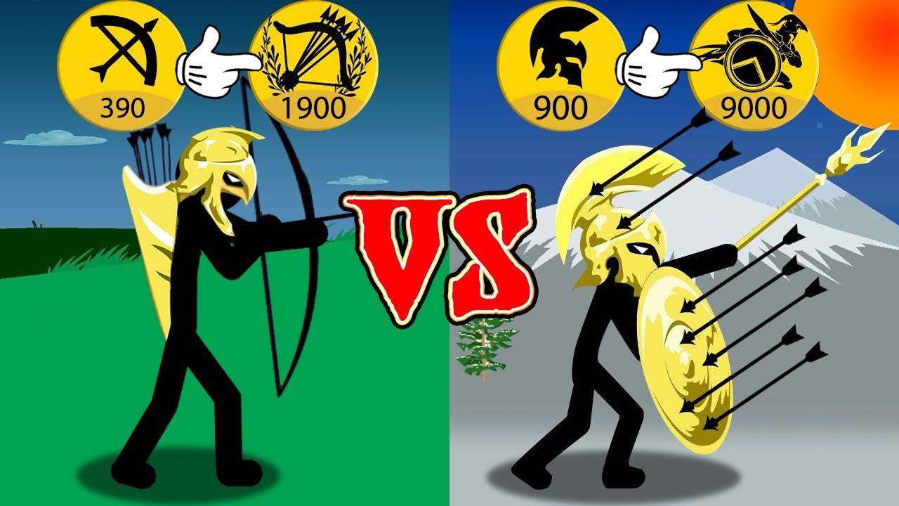 Stick War Legacy   MOD The Strongest Speaton Defender vs Archidon Golden Attacker   MrGiant777