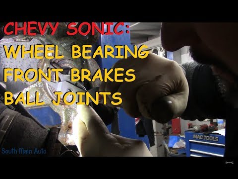 Chevrolet Sonic: Front Brakes, Wheel Bearing & Ball Joint
