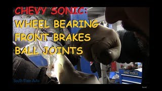 Chevrolet Sonic: Front Brakes, Wheel Bearing & Ball Joint