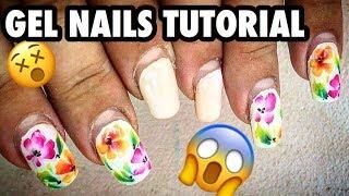Nail extension & Nail Fill STAY LONGER | Hand painting nail art tutorials and Manicure at home DIY