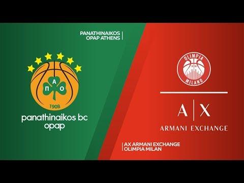 Panathinaikos OPAP Athens - AX Armani Exchange Olimpia Milan Highlights | EuroLeague RS Round 14
