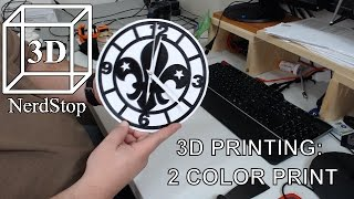 3D Printing: 2 Color Print (Scout Clock)