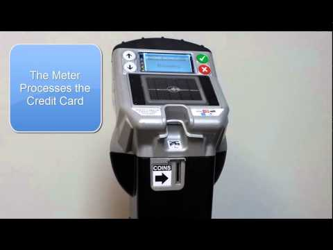 How to use the credit card-capable parking meters