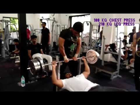 Fitness challenge?? Makarand Alkunte@ gym Chest, bicep,leg- press it's my basic training .Fit India