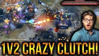Halo Wars 2 - Hammer Clutches A 1v2!! Crazy Win!