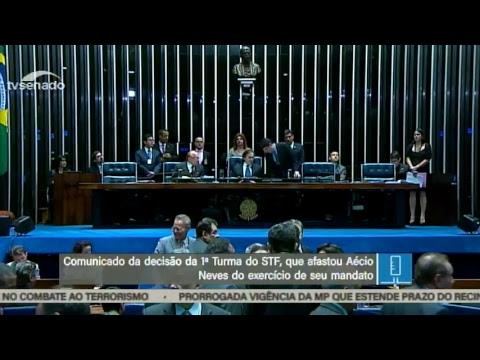 Plenário analisa medidas cautelares contra Aécio Neves - 17/10/2017 (íntegra)