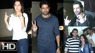 UNCUT - Special Screening Of Film Rock On 2 | Shraddha Kapoor | Farhan Akhtar | Arjun Rampal