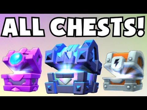 OPENING ALL CHESTS | Clash Royale LEGENDARY KING'S CHEST OPE