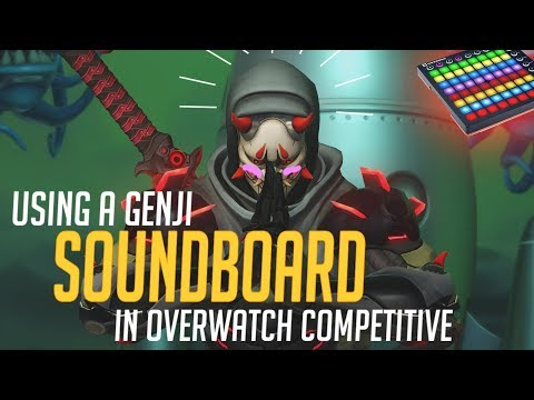 Using a Genji Soundboard in Overwatch Competitive! (Overwatch Trolling)