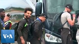 Liverpool Arrive Back in Liverpool with Champions League Trophy