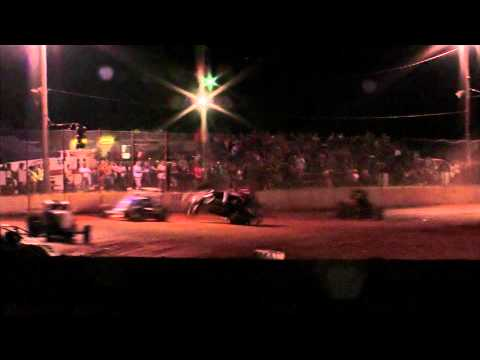 Wreck at West Siloam Speedway