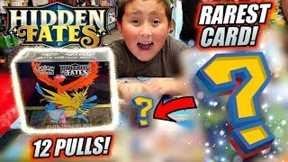 WE PULLED THE RAREST POKEMON CARD IN HIDDEN FATES! BEST ELITE TRAINER BOX OPENING! NEW LAUNCH PARTY!