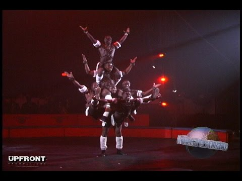 Incredible African Acrobats perform at the circus by filmmaker Keith O'Derek