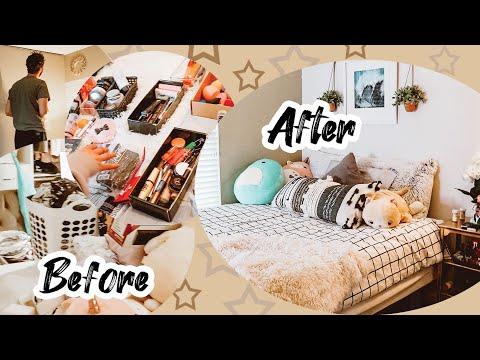 EXTREME MAKEUP & ROOM DECLUTTER | Clean w/ Me! thumbnail