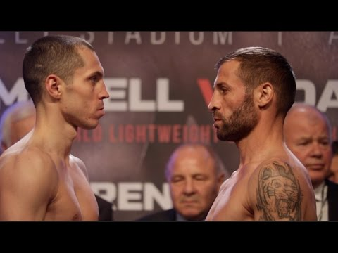 SCOTT QUIGG v VIOREL SIMION - OFFICIAL WEIGH IN & HEAD TO HEAD / JOSHUA v KLITSCHKO