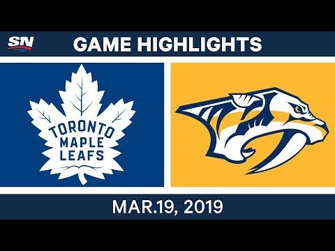 NHL Game Highlights | Maple Leafs vs. Predators - March 19, 2019