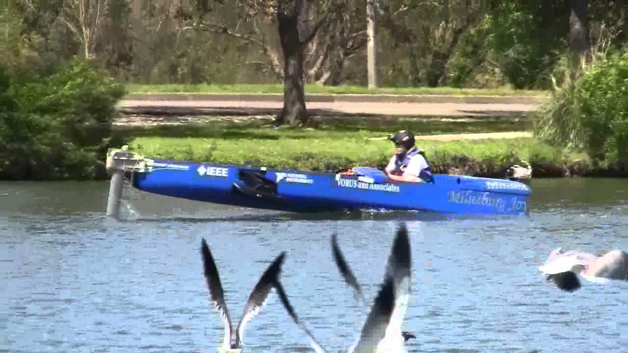 Uno Electric Boat Hydrofoil Testing