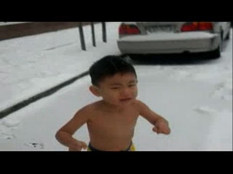 Video of Chinese boy crying in snow sparks uproar