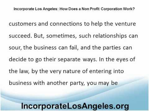 Incorporate Los Angeles: Structuring a Partnership