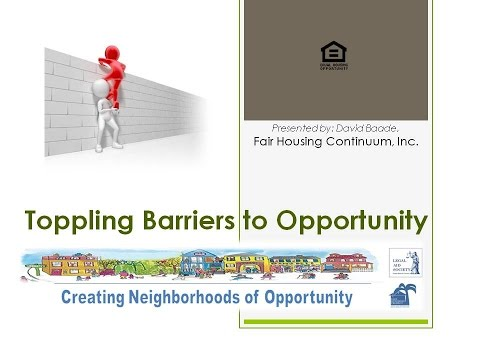 Affirmatively Furthering Fair Housing Toppling Barriers
