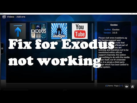 Exodus not working, how to fix it?