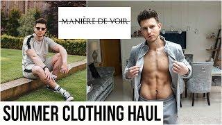 HUGE MANIERE DE VOIR Men's Clothing Haul & Try On | Summer 2019