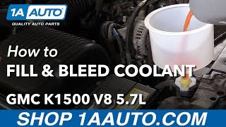 How to Drain Fill and Bleed Engine Coolant System 1996 GMC Sierra K1500 V8 5.7L