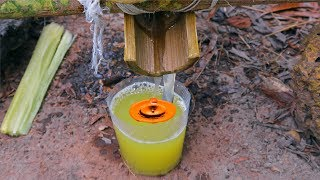 Chế Tạo Máy ÉP NƯỚC MÍA Trong Rừng Đậm Chất Sinh Tồn Nơi Hoang Dã.Sugarcane Juice Machine .Primitive