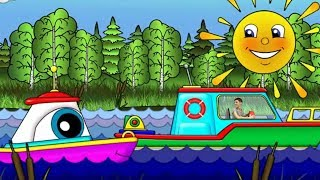Маша и Пома спасают кораблик. Мультик для малышей.