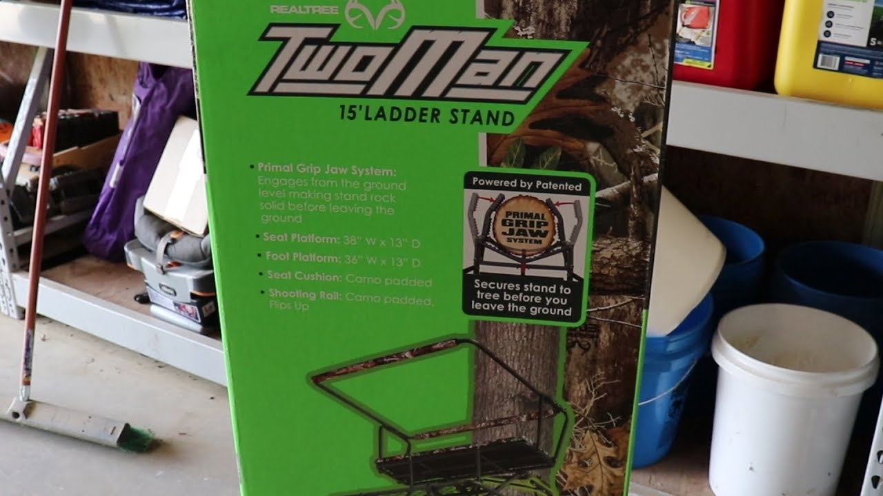 Realtree 2 Man Ladder Stand Review From Walmart Youtube