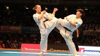 THE 10th WORLD KARATE CHAMPIONSHIP Women final Margarita Ciuplyte v...