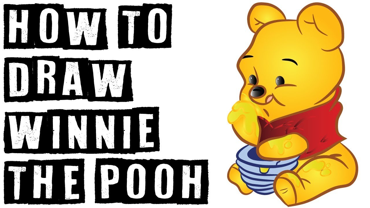 how to draw winnie the pooh honey pot drawpin youtube