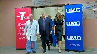 Trump visits victims of Las Vegas concert attack