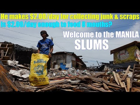 Travel to Manila Philippines and Meet this JUNK Collector Guy. Welcome to Manila Slums. Poverty!