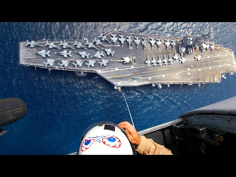 US Special Forces Jump above US Aircraft Carrier and US Navy Ships